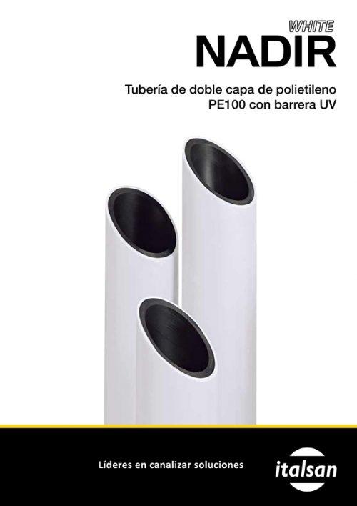 Ir a Catálogo Tuberóa doble capa de polietileno Nadir White